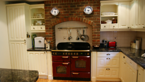 Painted kitchen with Rangemaster