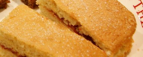 low carb jam sponge