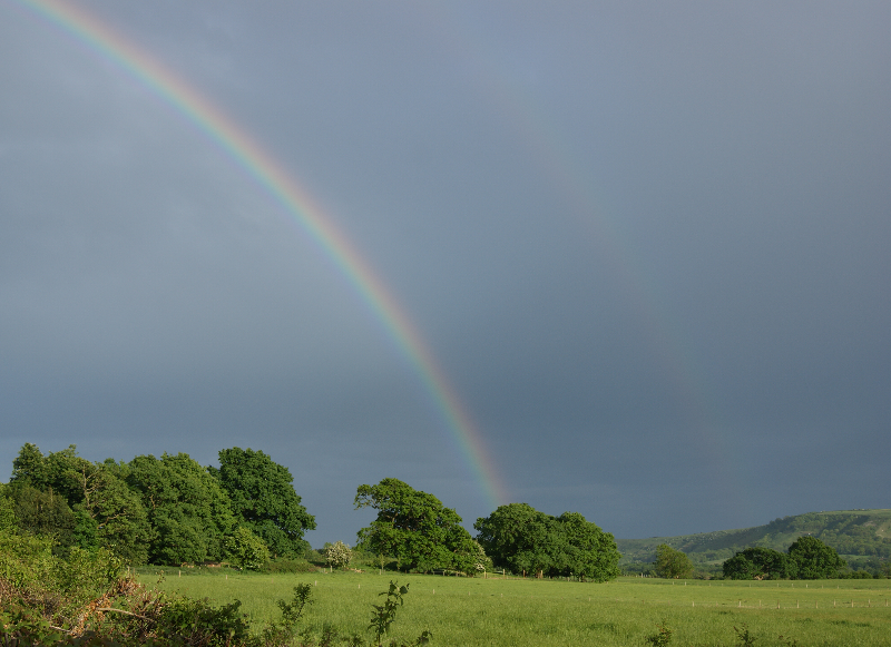 view from my house double rainbow