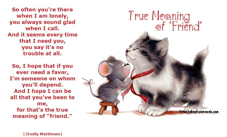 True meaning of friend