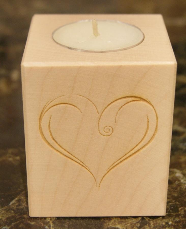 Tealight holder 0004 wooden