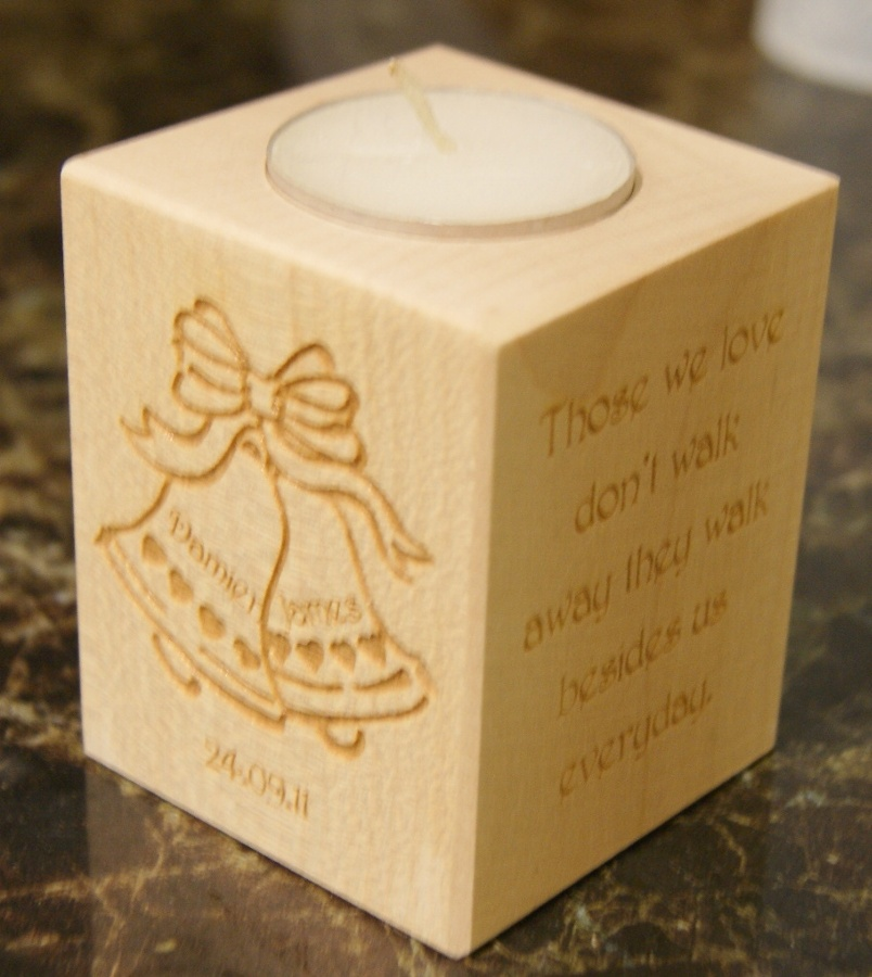 Tealight holder 0011 wooden