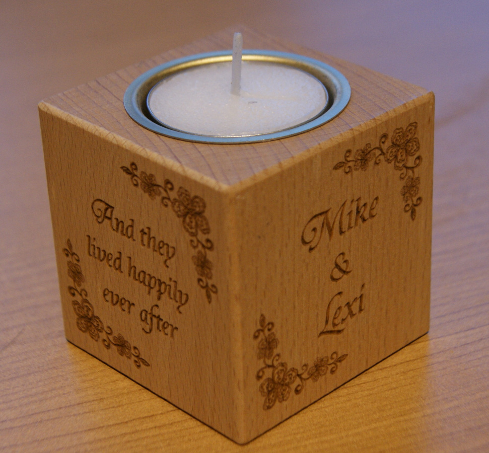Tealight holder 0015 wooden