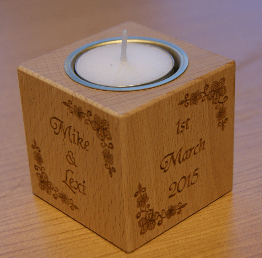 Tealight holder 0016 wooden