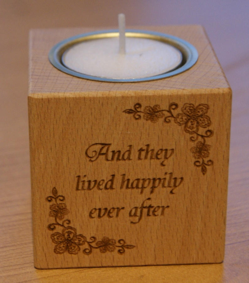 Tealight holder 0017 wooden