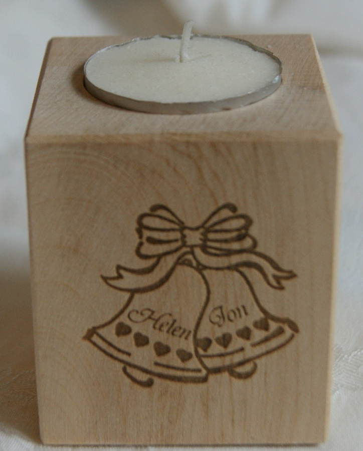 Tealight holder 0025 wooden