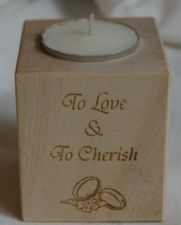 Tealight holder 0026 wooden