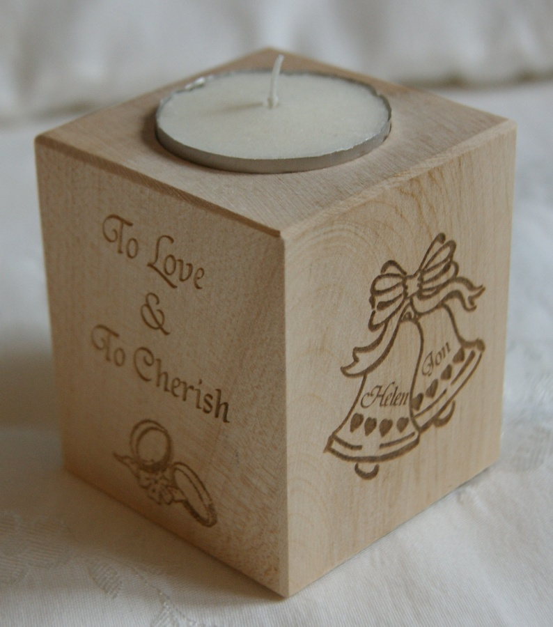 Tealight holder 0027 wooden