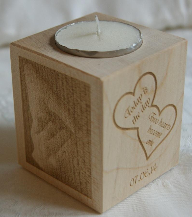 Tealight holder 0028 wooden