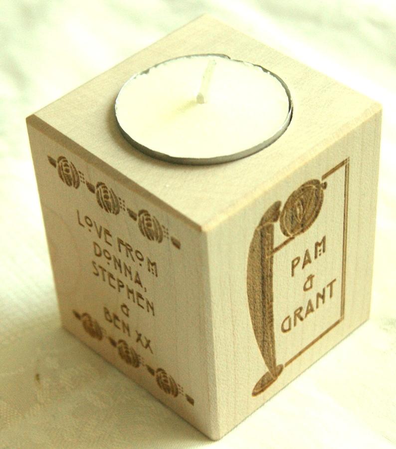 Tealight holder 0032 wooden