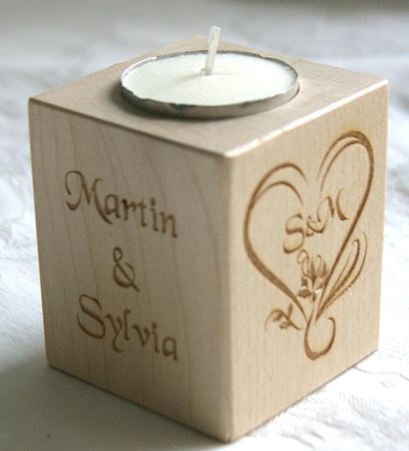 Tealight holder 0034 wooden