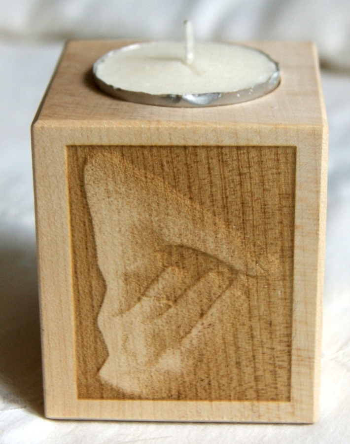 Tealight holder 0056 wooden