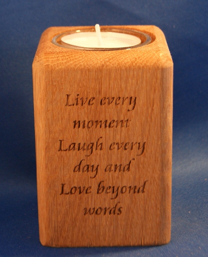Tealight holder 0058 wooden