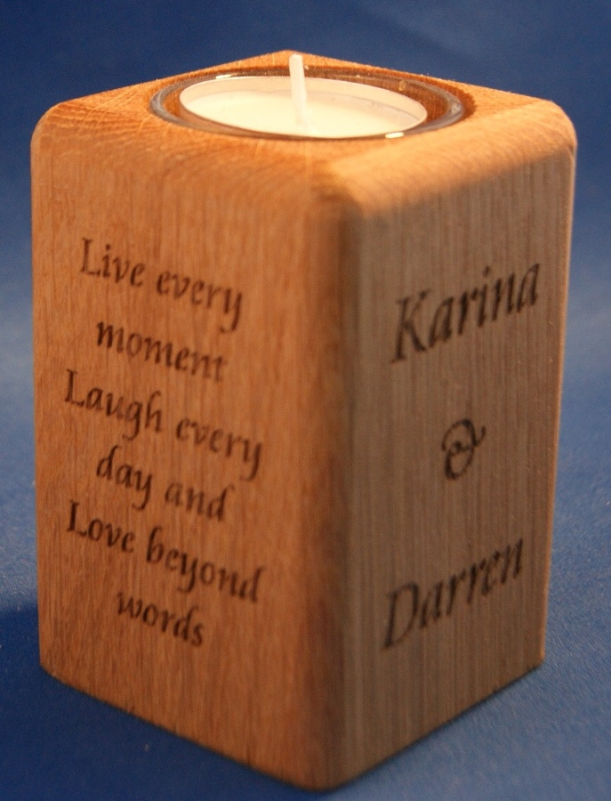 Tealight holder 0060 wooden