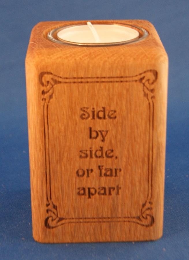 Tealight holder 0066 wooden