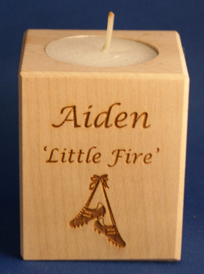 Tealight holder 0079 wooden