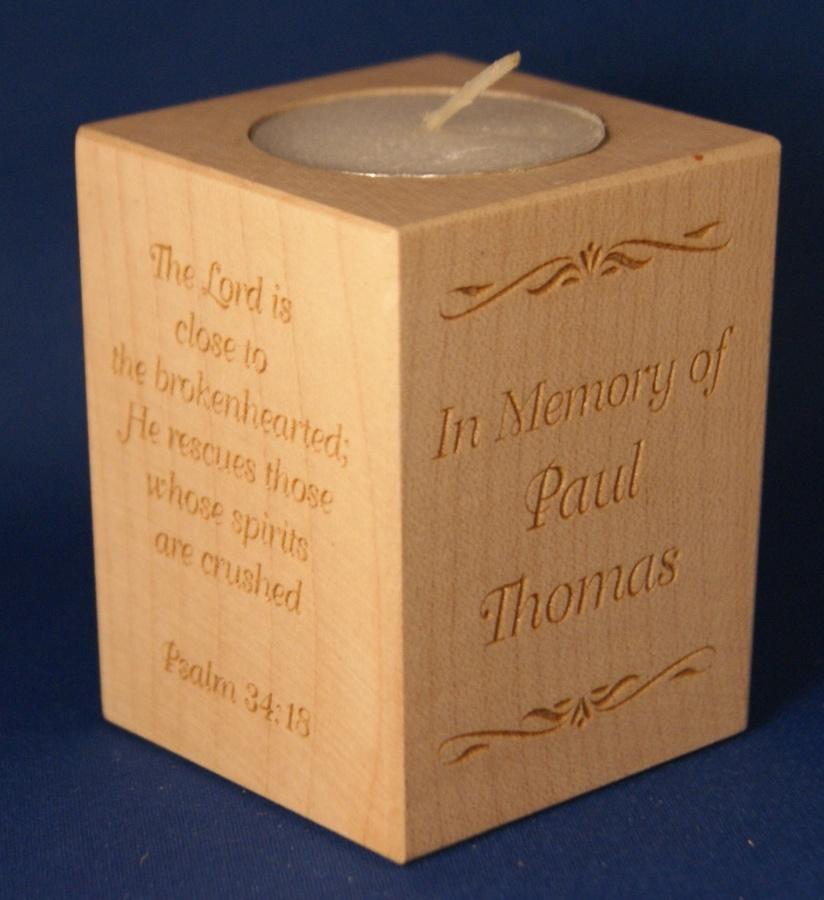 Tealight holder 0084 wooden