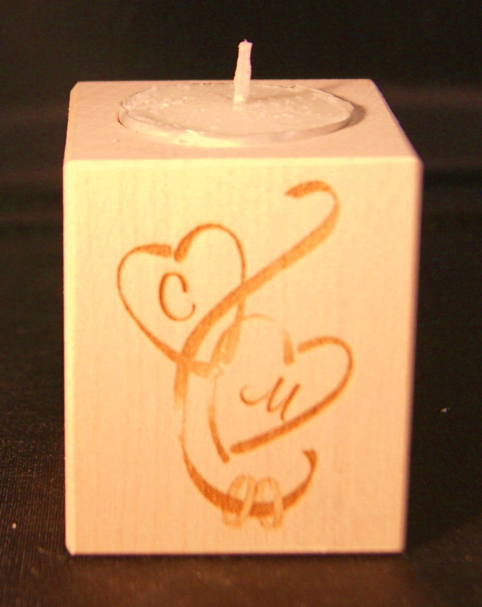 Tealight holder 0108 wooden