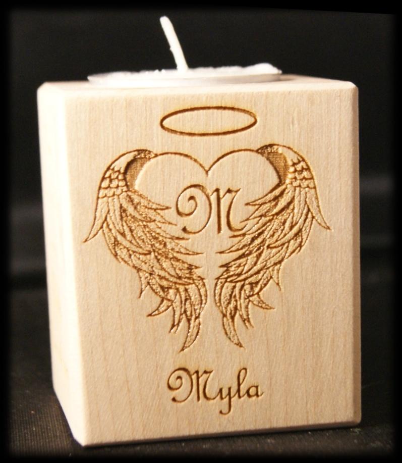 Tealight holder 0111 wooden