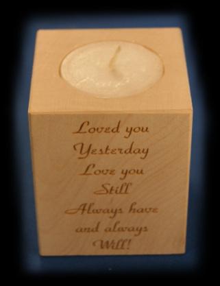 Tealight holder 0119 wooden