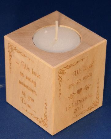 Tealight holder 0126 wooden