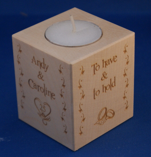 Tealight holder 0129 wooden