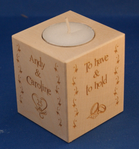 Tealight holder 0130 wooden