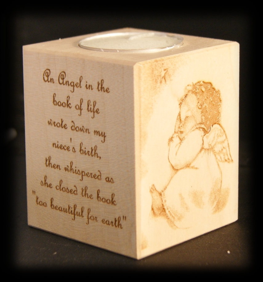 Tealight holder 0142 wooden