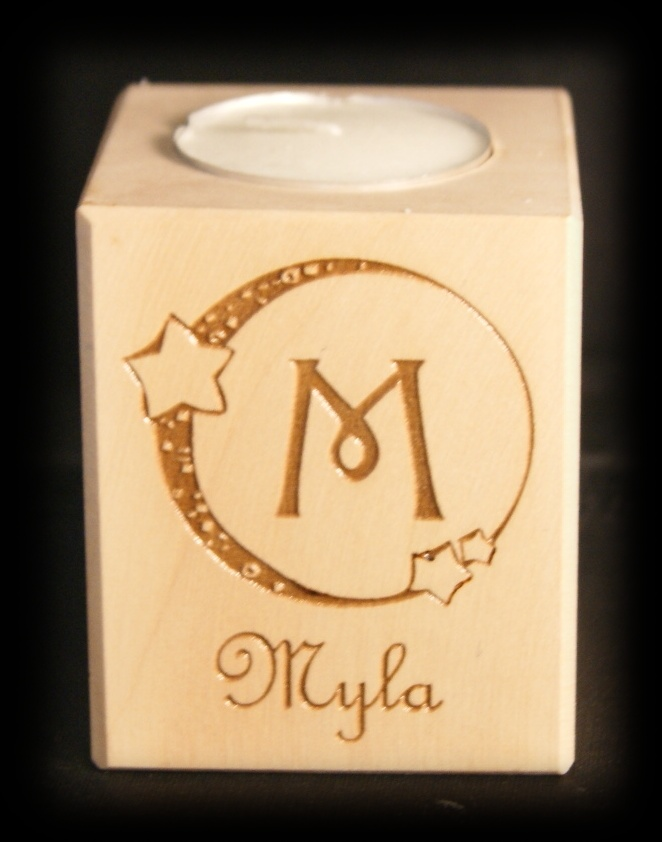 Tealight holder 0143 wooden