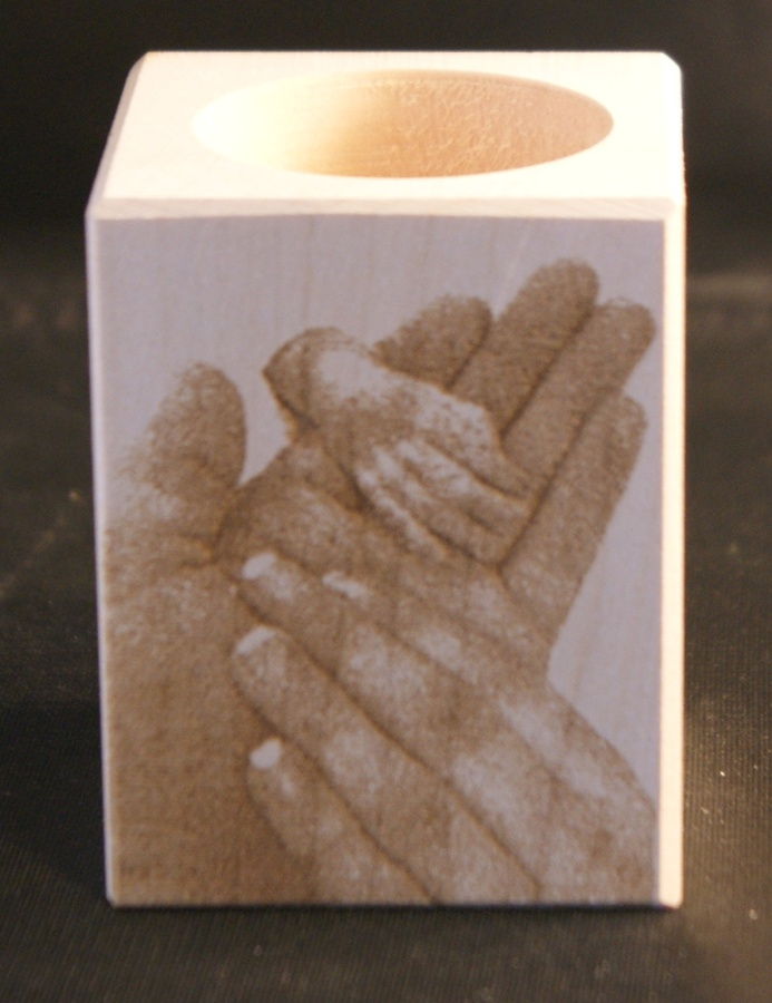 Tealight holder 0148 wooden