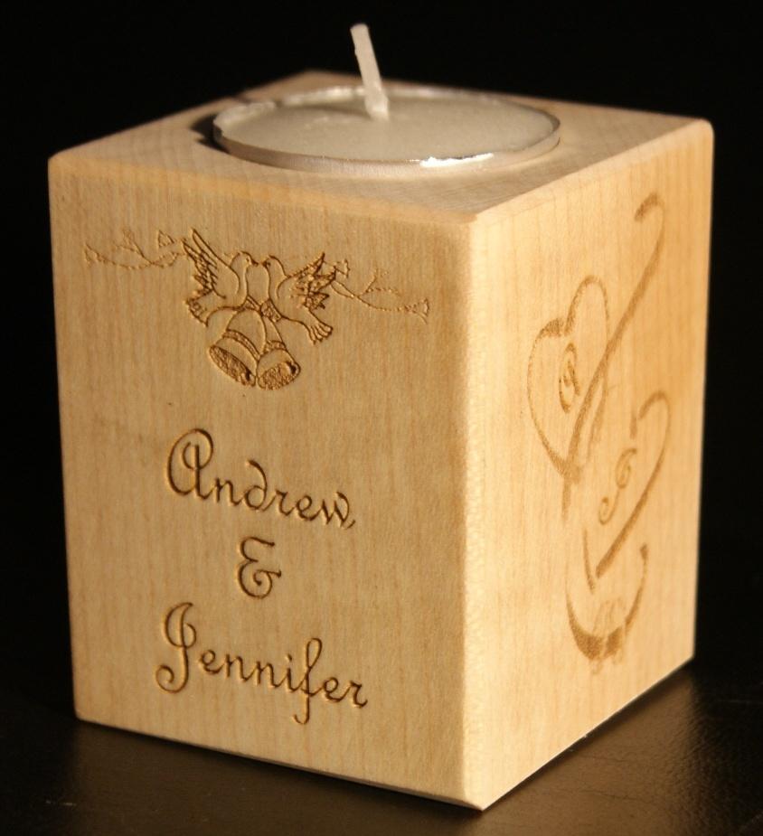 Tealight holder 0155 wooden