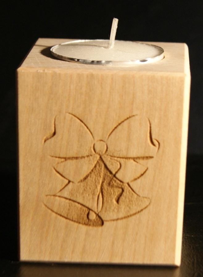 Tealight holder 0158 wooden