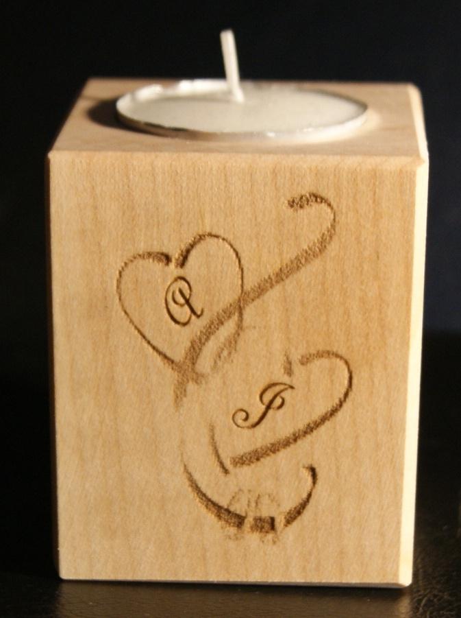 Tealight holder 0159 wooden