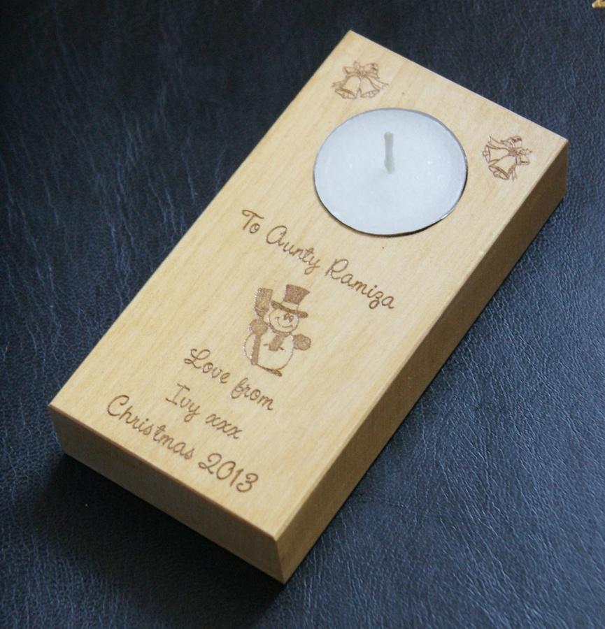 Tealight holder 0189 wooden