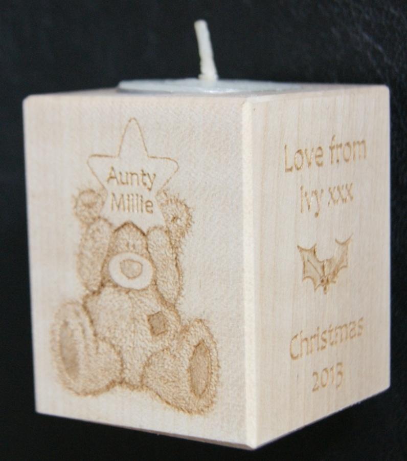 Tealight holder 0196 wooden
