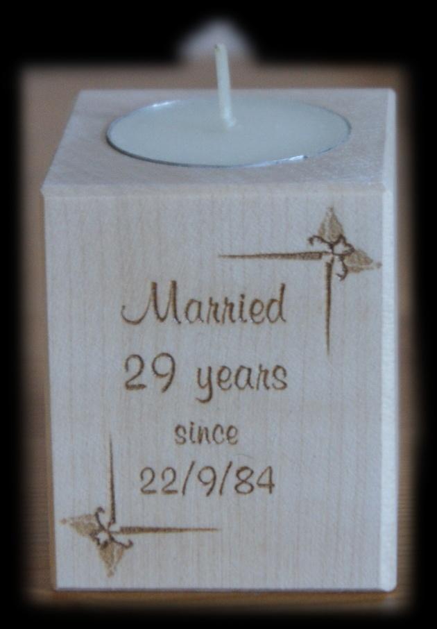 Tealight holder 0201 wooden