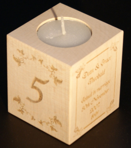 Tealight holder 0210 wooden