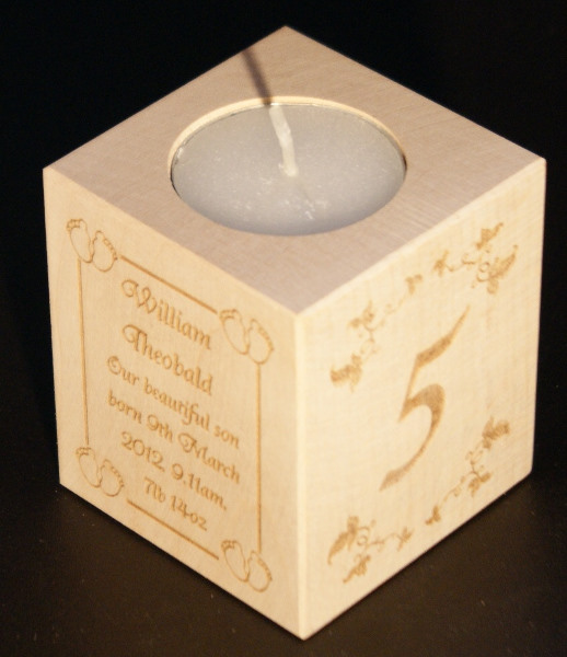 Tealight holder 0221 wooden