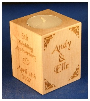 Tealight holder 0267 wooden