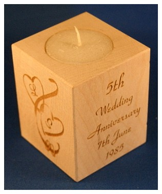 Tealight holder 0271 wooden