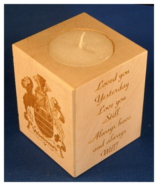 Tealight holder 0272 wooden