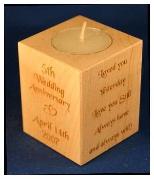 Tealight holder 0275 wooden
