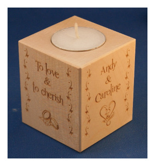 Tealight holder 0294 wooden