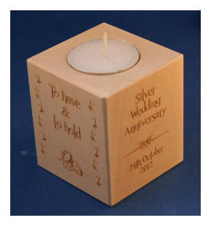 Tealight holder 0297 wooden