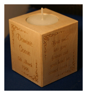 Tealight holder 0299 wooden