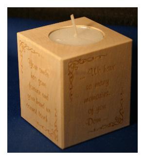 Tealight holder 0304 wooden