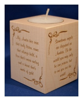 Tealight holder 0313 wooden