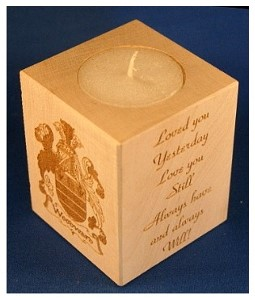 Tealight holder 0317 wooden