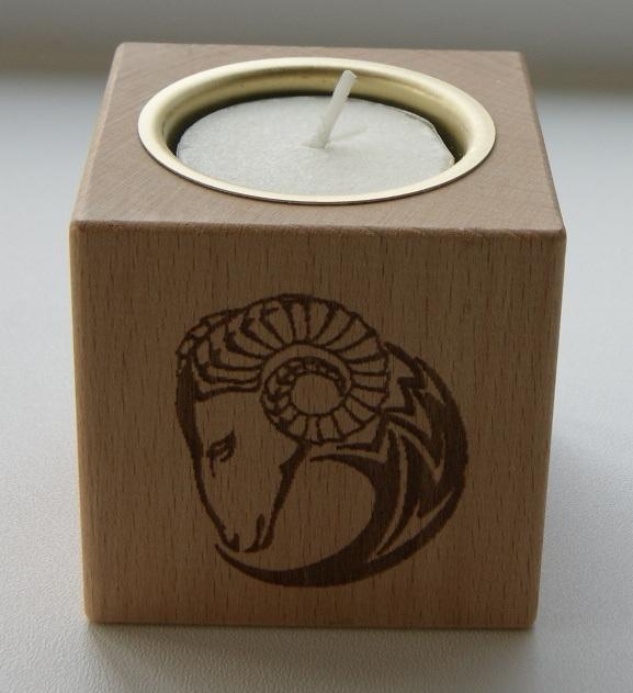 Tealight holder 0325 wooden