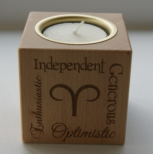 Tealight holder 0328 wooden